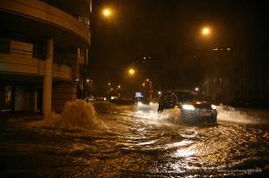 Clermont-Ferrand, Avenue de Bergougnan inondée